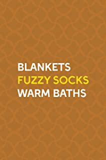 Blankets Fuzzy Socks Warm Baths: Notebook Journal Composition Blank Lined Diary Notepad 120 Pages Paperback Orange Texture Fuzzy