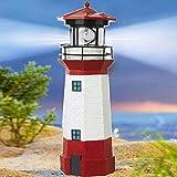 38 cm große dekorative Leuchtturm-Leuchte, wasserdicht, solarbetrieben, für Party, Terrassenweg, Gartendekoration, Rot