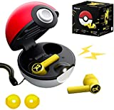 2021 New Poké-Mon Bluetooth Headphones,Pikachu Bluetooth 5.0 in-Ear Headset Touch Control with Elf Ball Charging Box