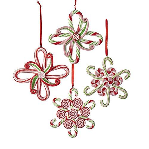 Kurt Adler 4' Claydough Candy Snowflake Ornament 4/asstd