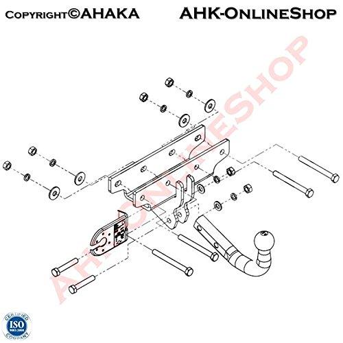 Anhängerkupplung Anhängevorrichtung Hängevorrichtung - starr, mit angeschraubtem Kugelkopf -STJ-071 AHAKA