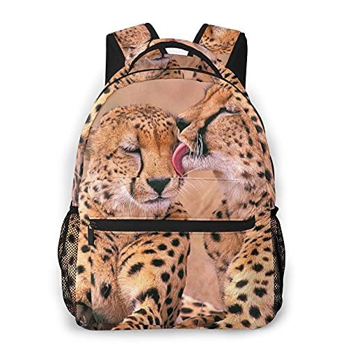 Eurmermaid Zaino per laptop da viaggio,coppia di ghepardi si amano,zainetto per computer antifurto resistente all'acqua di grandi dimensioni,borsa da scuola universitaria sottile e resistente