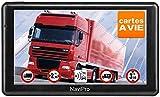 GPS Poids Lourd, NaviPro Active, 7 Pouces, GPS pour Camion, Bus, Camping Car, Support Magnétique, Europe + Maroc A Vie