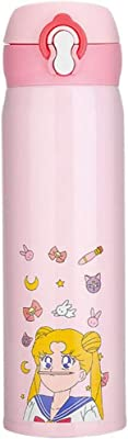 Sailor Moon Mug Cute Flow Cup Portable Cap Water Cup Vacuum Insulation Party, Picnic, Festival Outdoor, Travel