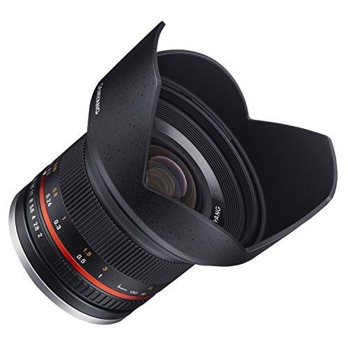 Samyang SY12M-FX-BK 12 mm F2.0 Ultra-Weitwinkelobjektiv für Fujifilm X-Mount Kameras, schwarz