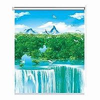 LIQICAI 100% ロールスクリーンハニカムシェードロール カーテンウィンドウ プライバシー保護 ポリエステル生地 装飾カーテン キッチンベッドルーム用、 パンチフリーインストール、 カスタムサイズ (Color : B, Size : 75cmX150cm)