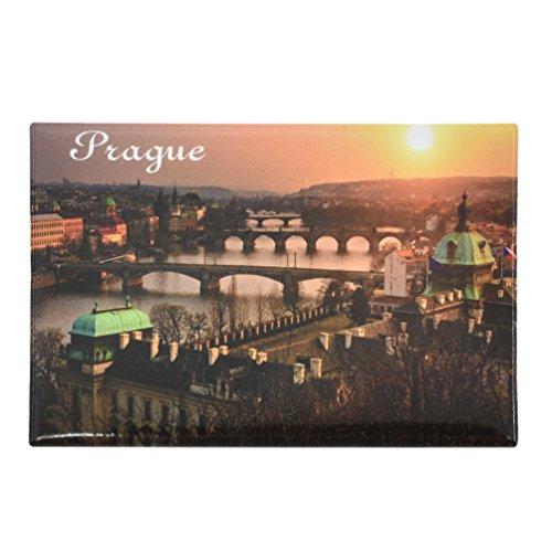 Kesheng Imán checo para nevera de Praga, 8 x 5,5 cm, para decoración del hogar, cocina