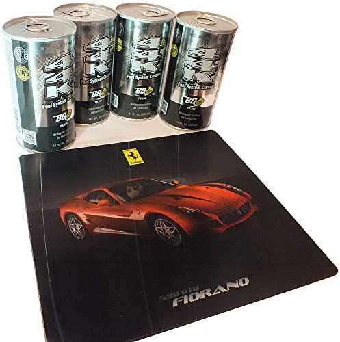 BG 44K Fuel System Cleaner 4 Pack and a Free Ferrari Mouse pad