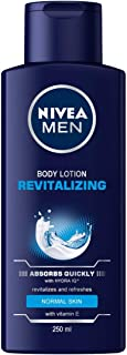 NIVEA MEN Revitalizing Body Lotion, Vitamin E, Normal Skin, 250 ml