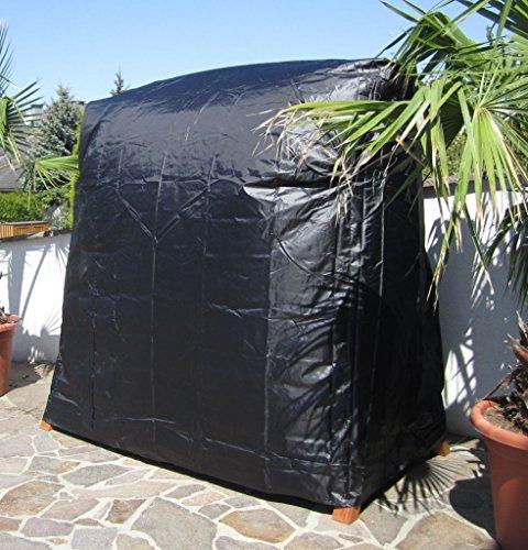 ASS Design Hollywoodschaukel Gartenschaukel MERU aus Holz Lärche inkl. Abdeckung von AS-S, Farbe:Cremeweiss - 3