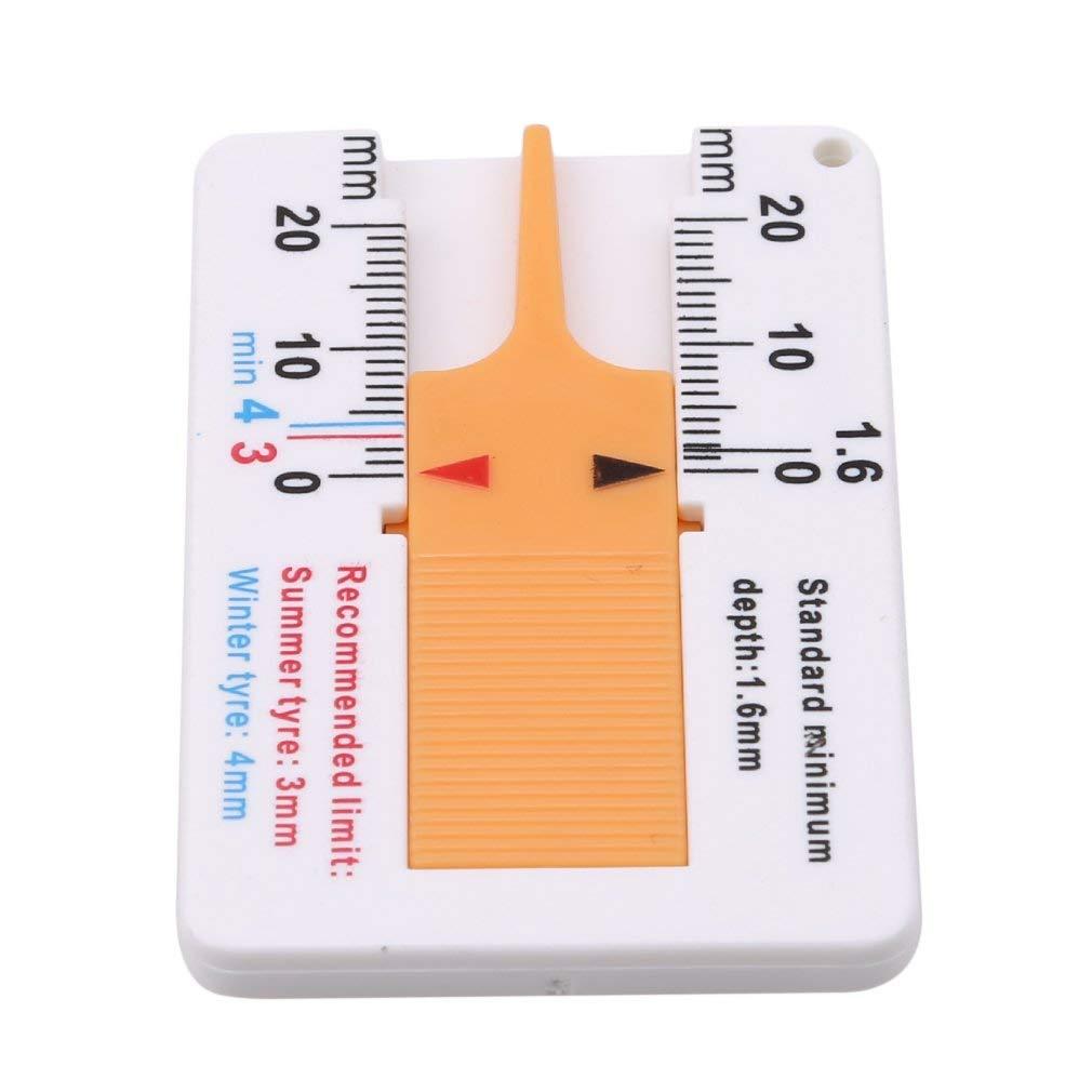 Un-brand Medidor de profundidad de las ranuras de los neumáticos Mini Dops, medidor de desgaste de los neumáticos, medición de profundidad y económico y duradero