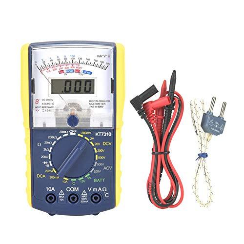 Multímetro, multímetro, alta sensibilidad, alta precisión, modelo de doble pantalla, seguro y confiable para operar, multímetro analógico, para laboratorio de electricistas