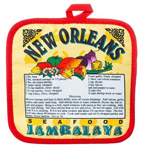 Artisan Owl New Orleans Seafood Jambalaya Recipe Souvenir Pot Holder