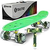 Skatro ミニクルーザー スケートボード22x6インチ レトロスタイル プラスチックボード