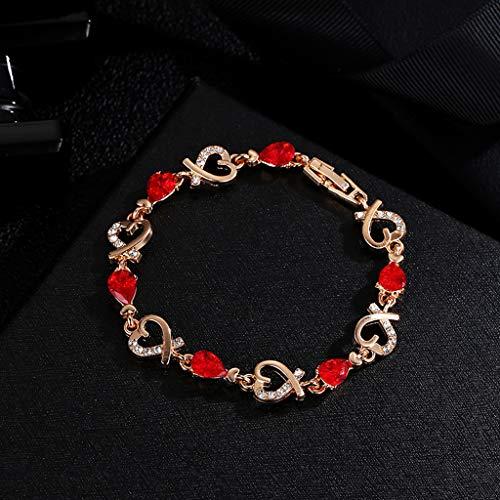Moent Frauen Kristall Armband Armreif Liebe Valentinstag Hochzeit Brautschmuck
