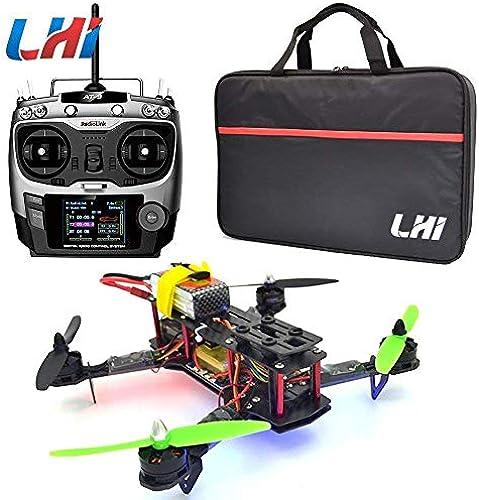 LHI 250mm Quadcopter Racing Helikopter Racing Rahmen Kit RTF + CC3D Flight Controller + MT2204 2300KV Brushless Motor + Simonk 12A ESC Brushless Drehzahlregler + 5030 Propeller (mit AT9 Fernbedienung)