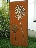 Zen Man Garten Sichtschutz aus Metall Rost Gartenzaun Gartendeko edelrost Sichtschutzwand 031654-2 B50*H125cm