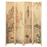 Biombos Decorativos, Biombos Separador Simplicidad Moderna Estilo Chino Tabique Móvil Plegable Pantalla De Bambú Decoración del Hogar Sala De Estar