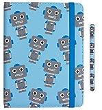 My garabatos by Trendz Juego para niños en con los búhos-Design Incluye Funda Universal con Tapa para 6-8 Pulgada Tablets y e-Readers y lápiz Capacitivo Compatible Roboter 6-8 Pulgadas