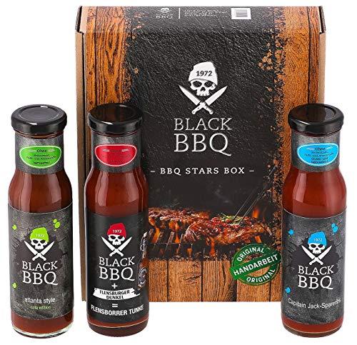 Black BBQ BBQ Stars Box | Grillsauce | Marinade | Burger Sauce | Hamburger Sauce | fein rauchig-würzig