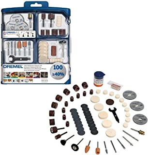 Dremel 723 EZ SpeedClic Accessory Set - 100 Rotary Tool Accessories for Cutting, Carving, Sanding, Cleaning, Grinding, Pol...