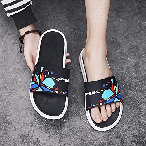 Yumanluo Hombre Verano Zapatillas Flip Flops Sandal Zapatos de Playa y Piscina,Pantuflas con fragmentos de Color-C_44 / 45