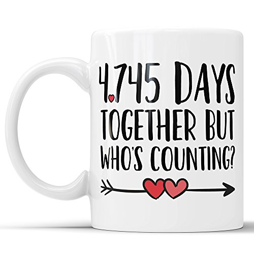 13th Anniversary Coffee Mug - 4745 Days Together But Who's Counting Funny...