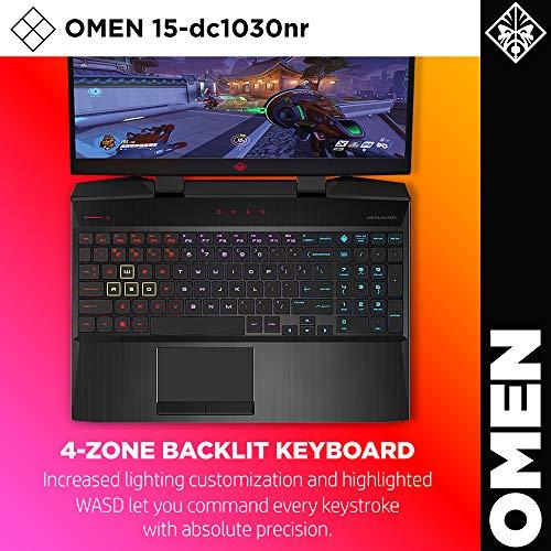 HP Omen 2019 15-Inch Gaming Laptop with Intel i7-8750H Processor, NVIDIA RTX 2060 6 GB, 16 GB RAM, 128 GB SSD, 1 TB HDD, VR Ready, Windows 10 Home (15-dc1030nr, Black)