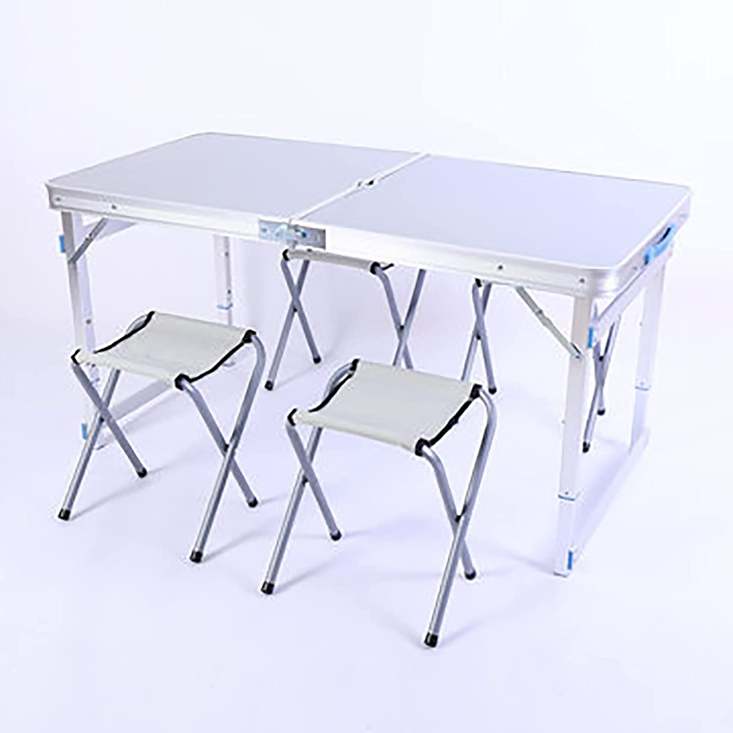 depot Folding Camping Max 47% OFF Table with Picnic Portable Chairs Aluminum