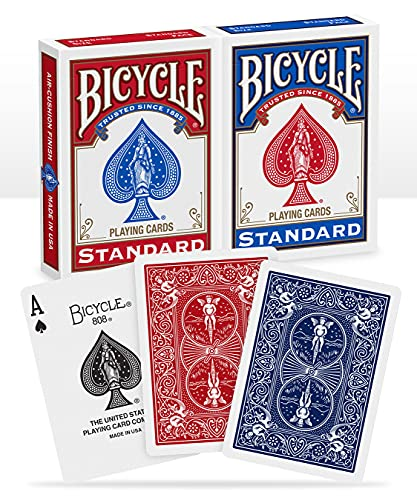 Bicycle Playing Cards - Poker Size - 2 Pack, RED & BLUE
