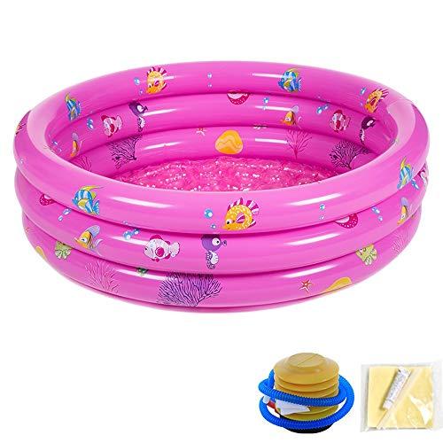 TRER Baby opblaasbare badkuip draagbare mini Air Swimming Pool Kid Infant Toddler dikke opvouwbare douchebak met zacht kussen centrale zitting blauw roze rond/ovaal/vierkant 6-purple