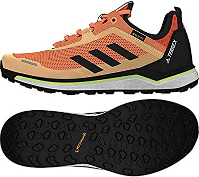 adidas Terrex Agravic Flow Gore-TEX Women's Trail Running Shoes - AW20-9 - Glory Amber Core Black FTWR White