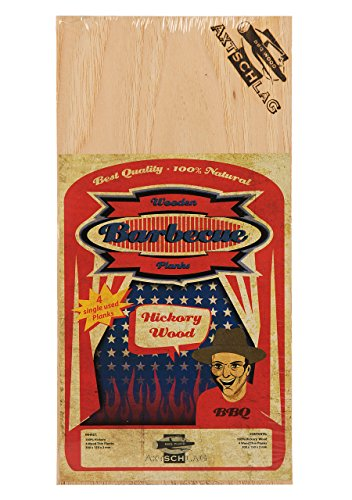 Axtschlag - Tavolette per affumicatura, in Noce Americano, 4 taglieri in Legno, 300 x 150 x 2 mm