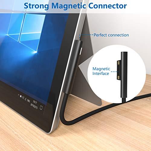 Ladegerät Surface Pro Laptop 44W Netzteil 15V 2.58A AC Netzteil Verlängerungskabel, Surface Laptop Ladegerät mit 1,8m Ladekabel Ersatz Ladegerät für Microsoft Surface Pro 3/4/5/6/7