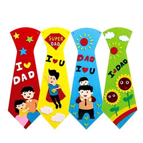 PRETYZOOM Divertido Corbata Manualidades para Papá Manualidades Kit de Costura Diy Corbata...