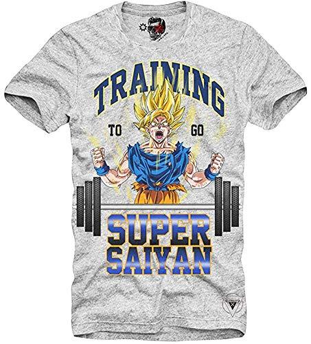 Qingning TCVCCV T-Shirt Training GO Super Saiyan Dragonball Gym Son Goku Grey