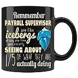 N\A El Supervisor de nómina de remmember es como una Taza de Icebergs Jefe del empleador compañero de Trabajo, Regalo de cumpleaños para Hallowen o Navidad por Brass Burro Ceramic