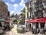 JINZUO 1000 Pièces Puzzle Enfant Adultes Bois 3D 8 Ans Fille Garcon Paysage Classique Jouets Art Déco Cadeau Femme Homme Ville Française De Caen