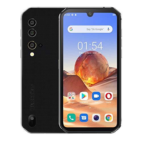Outdoor Handy ohne Vertrag Blackview BV9900E, Android 10, Helio P90 6GB+128GB, 48MP Quad-AI-Kamera, IP68 Robustes Smartphone Wasserdicht, 5,84 Zoll FHD+ Gorilla-Glas 5, Drahtlose Ladung NFC Silber