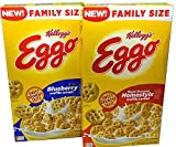 Kelloggs Eggo Maple Flavored Homestyle and Blueberry Waffle Cereal
