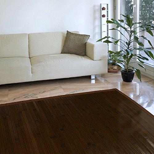 Estores Basic Natural Alfombra, Bambú, Marrón Oscuro, 140 x 200 cm