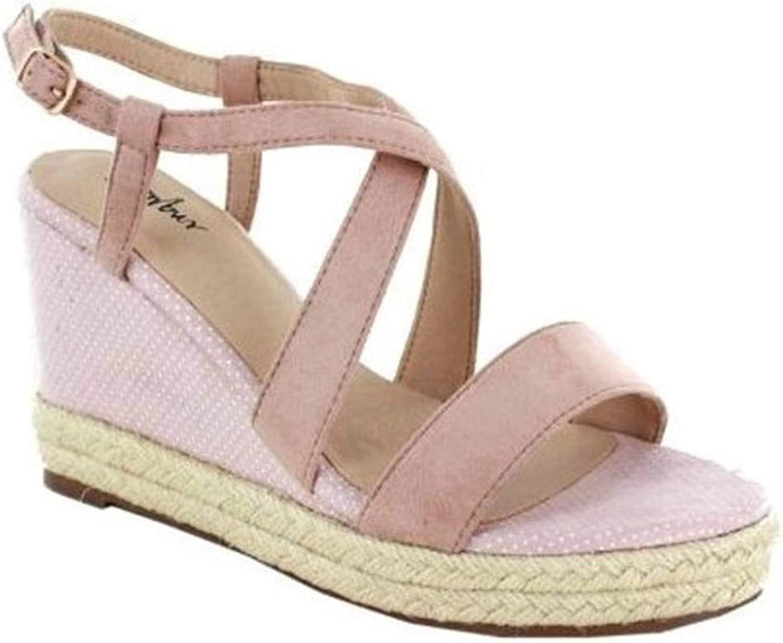 Menbur Vols 020474 Pink Women's Wedge Sandal