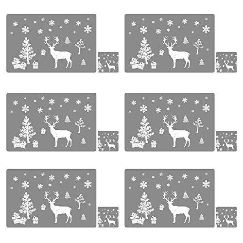 Weihnachtstischdekoration Frohe Weihnachten Tischset Küchen snowfake Elk Heat Resistant Coaster Pads Bowl Mats Startseite Weihnachtsfest-Hochzeit Tischdekoration Weihnachten ( Color : Grey A )