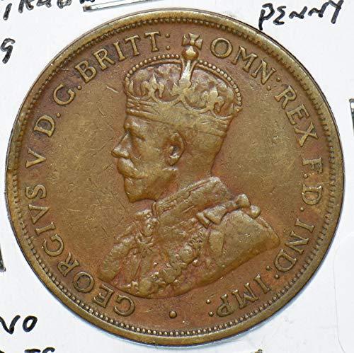 1919 AU Australia 1919 Penny 192592 DE PO-01
