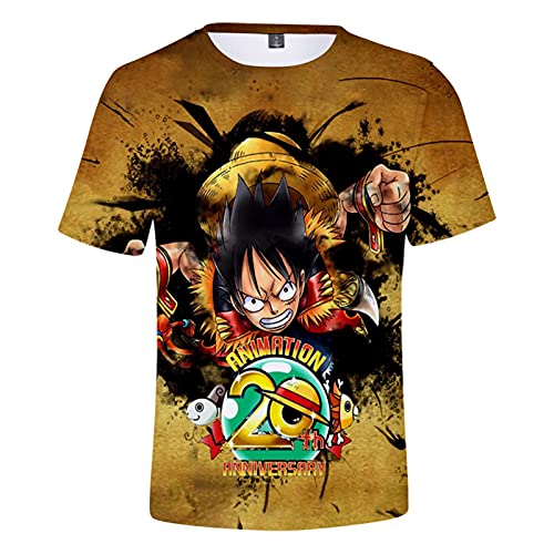 YJXDBABY-One Piece-Unisex T-Shirt Sommer Casual 3D Print T-Shirts Kurzarm FüR MäNner Frauen Cosplay KostüM-XS