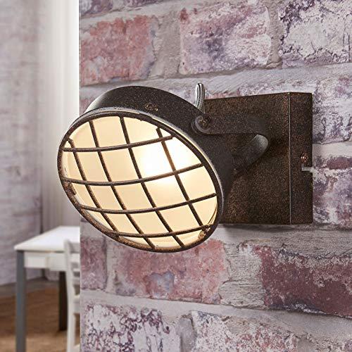 Lindby LED Deckenlampe 'Tamin' (Vintage, Industriell) in Braun aus Metall u.a. für Wohnzimmer & Esszimmer (1 flammig, G9, A+, inkl. Leuchtmittel) - Deckenleuchte, Wandleuchte, Strahler, Spot, Lampe