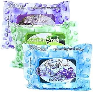 Coat me Bonjour Paris Refreshing Wet Facial Wipes - Ice Fresh/Lime Fresh/Lavender Fresh (Ice Fresh/Lime Fresh/Lavender Fresh)