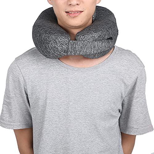 Almohada de cuello de calefacción transpirable, 26 x 25 x 14 cm Soporte de cuello Áreas de calefacción Espuma de memoria de contorno de tela no tejida
