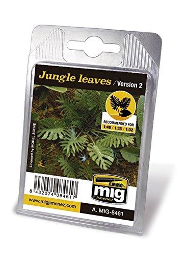 Ammo MIG-8461 jungle bladeren (versie 2) lasergesneden planten, meerkleurig