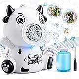 WisToyz Seifenblasenmaschine mit Musik & Licht für Kinder - Automatische Bubble Maschine, Kühe...